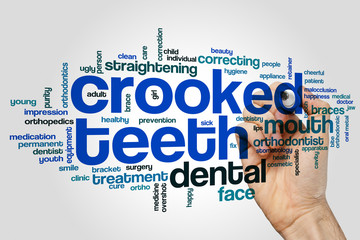 Crooked teeth word cloud