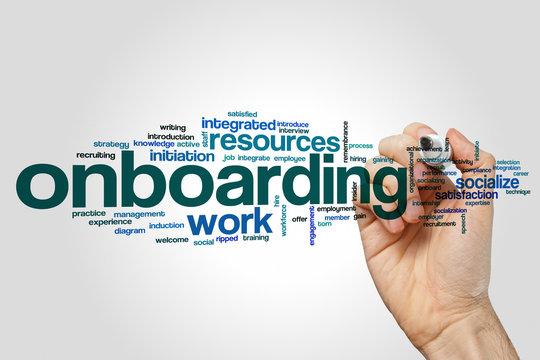 Onboarding word cloud concept