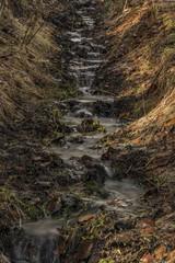Spring creek in Ceske Stredohori mountains