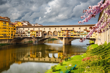 Wall Mural - Ponte Vecchio in Florence at spring, Italy