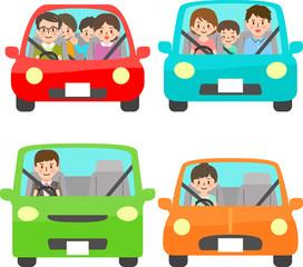 自動車と人物 正面