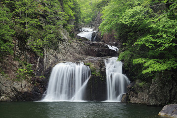 Sandan-kyo and waterfall
