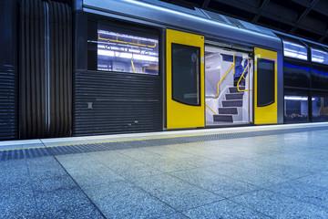 Fotobehang Treinstation Sydney city subway station