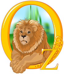 Poster Fairytale World Lion