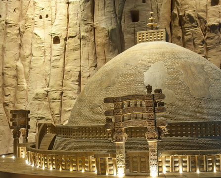 landscape the great stupa of sanchi madhya pradesh, classical antiquity landmark of india for travel