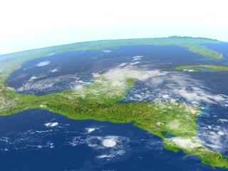 Yucatan on planet Earth