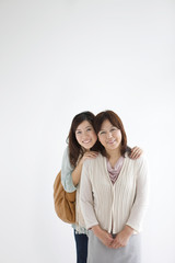 Portrait of Mother and daughter