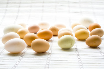Various kinds of fresh eggs