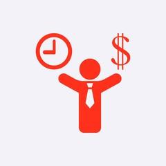 money time icon stock vector illustration flat design