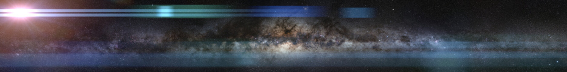 bright star in front of a galaxy