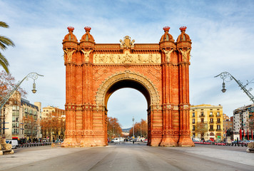 Foto op Aluminium Barcelona Triumph Arch of Barcelona in a summer day in Barcelona, Spain