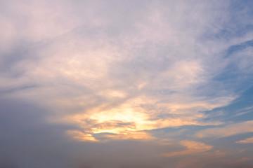 Blue sky with cloud at dusk