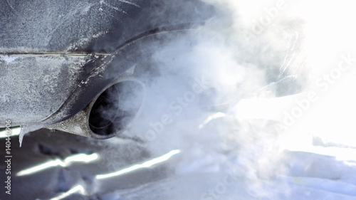 Exhaust Coming Out Of A Car ~ Quot car pipe puffs out exhaust gas clouds smoke