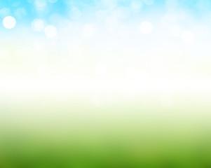 Colorful summer or spring backgound blur.