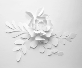 paper flower on white background