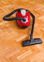 Vacuum cleaner on parquet