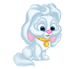 Puppy little  cartoon Illustrations isolated image character