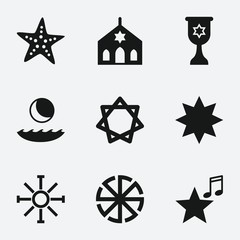 Set of 9 star filled icons