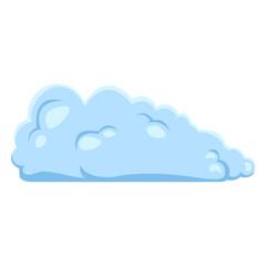 Vector Single Blue Cloud Icon