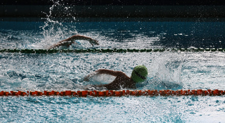 Swimming competition at school.