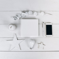 objects white white background