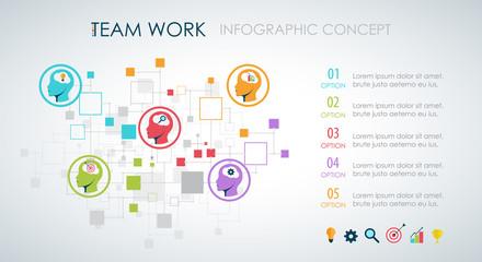Info graphic teamwork. Business concept.
