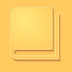 ikona vintage 3D z obrysem i cieniem