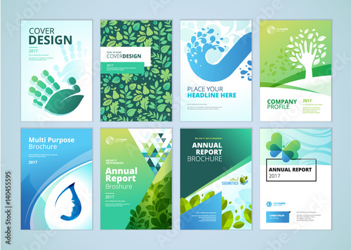 natural and organic products brochure cover design and flyer, Presentation templates