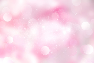 Pink pale blurred glitter background.Mothers day illustration.