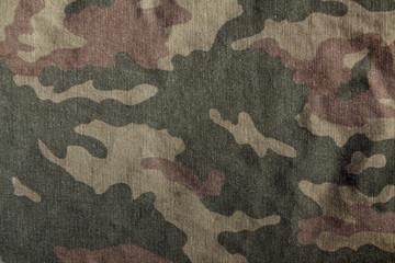 Camouflage uniform cloth pattern.