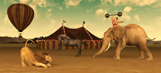 Retro Circus Animals