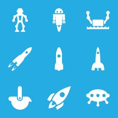 Set of 9 future filled icons