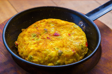 Typical spanish delicious omelette - tapas concept
