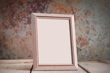 frame on the old wood.