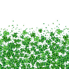 Spring seamless horizontal background with clover leaves for design to the Saint Patrick Day