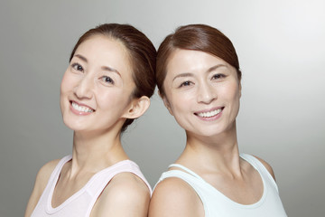 Beauty images of two middle-aged women