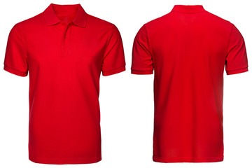 Red Polo shirt, clothes Wall mural