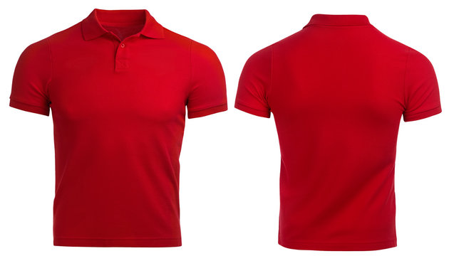 Red Polo shirt, clothes