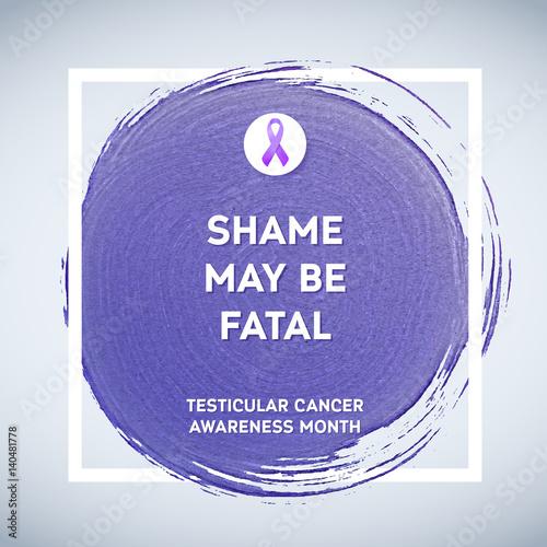 Testicular Cancer Awareness Creative Grey And Purple Poster Brush
