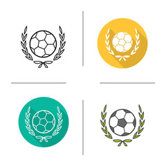 Football championship league icon