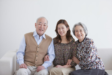 Adult Daughter with Parents