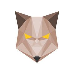 Vector geometric wolf