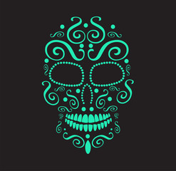 Skull vector icon for fashion design, background, tattoo or pattern