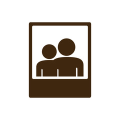 silhouette frame photography couple people icon vector illustration