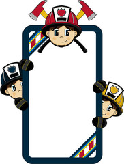 Cute Cartoon Firemen - Firefighters