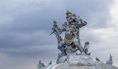Hindu god Hanuman statue in Bali, Indonesia