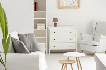 White cozy room