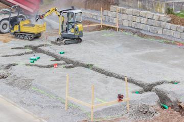 Kanalarbeiten für ein neues Einfamilienhaus