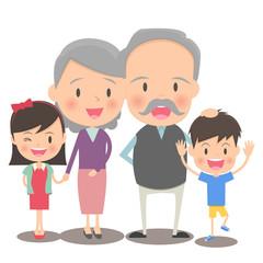おじいさんとおばあさんと孫