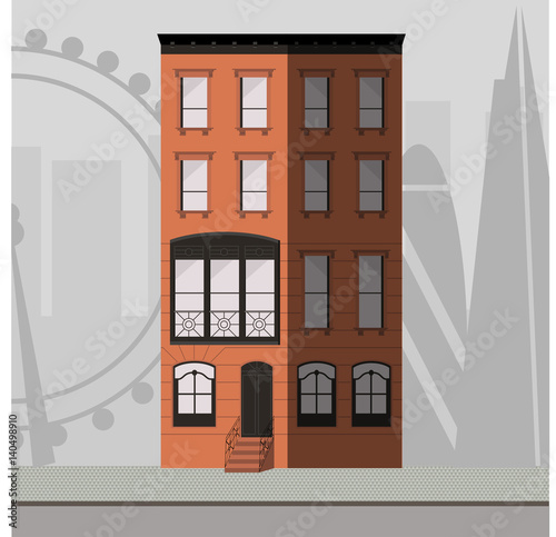 Orange apartment building with a victorian style window for Victorian style apartment